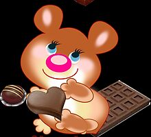 Teddy I Love chocolate  (5275  Views) by aldona