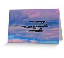 1 2 3 4 Angels Flying Tight Greeting Card