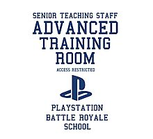 Senior Staff Advanced Room Playstation Battle Royale (Blue) Photographic Print