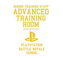Senior Staff Advanced Room Playstation Battle Royale (Yellow) Photographic Print
