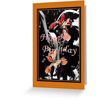 Happy Birthday - Irises  Greeting Card