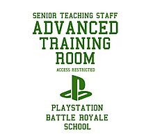 Senior Staff Advanced Room Playstation Battle Royale (Green) Photographic Print