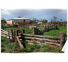 Historic Pastrol Shearing Shed, Canopus Poster