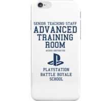 Senior Staff Advanced Room Playstation Battle Royale (Blue) iPhone Case/Skin