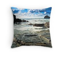 Gull Rock Trebarwith Strand II Throw Pillow