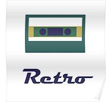 Retro cassette Poster