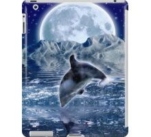 DOLPHIN & MOON Fantasy Art Poster iPad Case/Skin