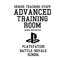 Senior Staff Advanced Room Playstation Battle Royale (Black) Photographic Print