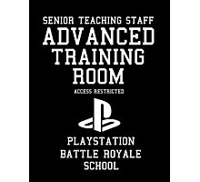 Senior Staff Advanced Room Playstation Battle Royale (White) Photographic Print