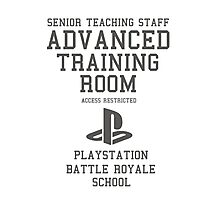 Senior Staff Advanced Room Playstation Battle Royale (Grey) Photographic Print