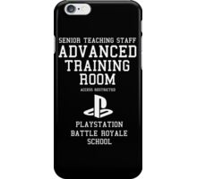 Senior Staff Advanced Room Playstation Battle Royale (White) iPhone Case/Skin
