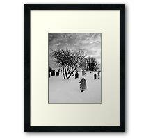 Winter in the Churchyard Framed Print