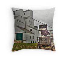 Grain elevators Throw Pillow
