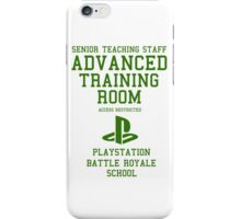 Senior Staff Advanced Room Playstation Battle Royale (Green) iPhone Case/Skin
