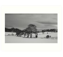 Dalmeny Winter Scene Art Print