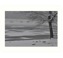 Frozen Lake Scene Art Print