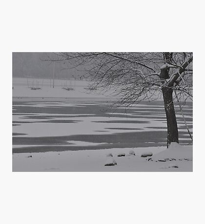 Frozen Lake Scene Photographic Print