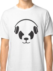 Panda With Headphones Classic T-Shirt