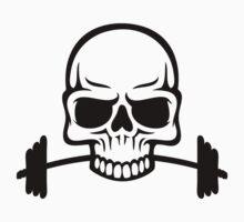 Barbell Skull by DesmondDesign