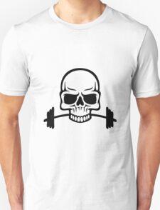 Barbell Skull T-Shirt