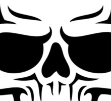 Barbell Skull Sticker