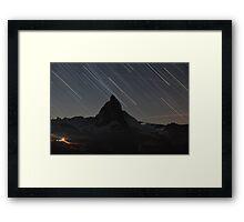 Matterhorn - Zermatt, Switzerland and startrails Framed Print