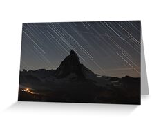 Matterhorn - Zermatt, Switzerland and startrails Greeting Card