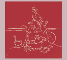 Australian Christmas in Red Tee by Gudrun Eckleben