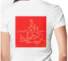 Australian Christmas in Red Tee Womens Fitted T-Shirt