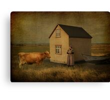 The Cow and The Girl Canvas Print