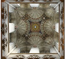 Ceiling in Canterbury Cathedral by CraigSev