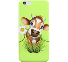 Cute cow has a gift for you iPhone Case/Skin