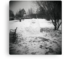 Snowman Canvas Print
