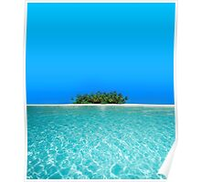Breathtaking Maldivian Atoll in the Laccadive Sea Poster