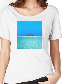 Breathtaking Maldivian Atoll in the Laccadive Sea Women's Relaxed Fit T-Shirt