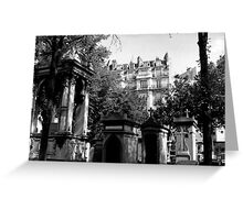 paris cemetery (Pere Lachaise) Greeting Card