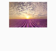 Sunset over a summer lavender field in Provence, France Unisex T-Shirt