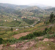 a colourful Uganda landscape by beautifulscenes