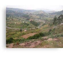 a colourful Uganda landscape Metal Print