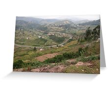 a colourful Uganda landscape Greeting Card