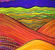Perfect Pastels - Flinders Ranges looking back (2) by Georgie Sharp
