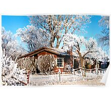 Idaho Winter Home in Pogo Frost/ Ice Fog, USA Poster