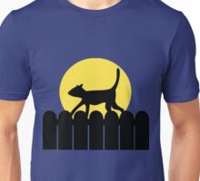 A Cat in a Long Dark Night Unisex T-Shirt