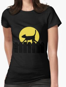 A Cat in a Long Dark Night Womens Fitted T-Shirt