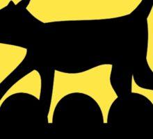 A Cat in a Long Dark Night Sticker