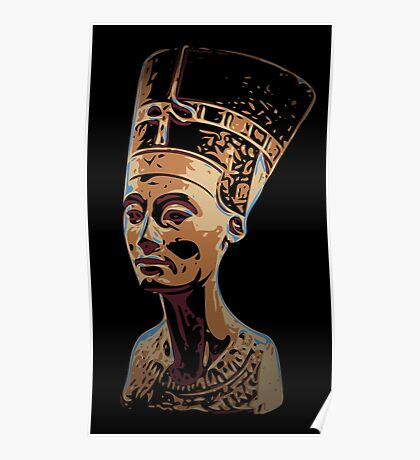 Bust of Nefertiti  the Great Royal Wife Poster
