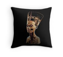 Bust of Nefertiti  the Great Royal Wife Throw Pillow