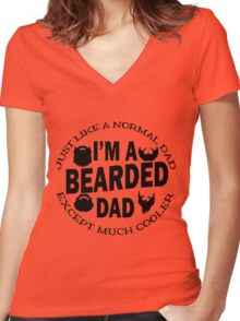 I'm A Bearded Dad Women's Fitted V-Neck T-Shirt