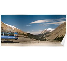 Old Ice Explorer used to visit the Athabasca Glacier, Canada Poster