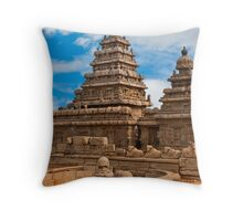 Mahabalipuram Temple Throw Pillow